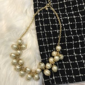J. Crew pearl & gold necklace NEW